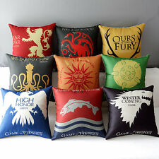 Game of Thrones Badge Tully Arryn Greyjoy Tyrell Stark Pillow Case Cushion Cover