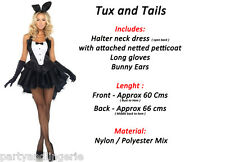 Sexy Black Tuxedo Bunny Tux Tail Animal Burlesque Smart Posh Play boy Rabbit