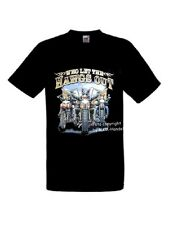 "Biker Chopper High Neck Bikes, Fun T-Shirt "" Who Let The Hawgs Out"" Motiv Gr"