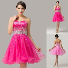Organza Strapless Mini Homecoming Quinceanera Cocktail Party Prom Evening Dress