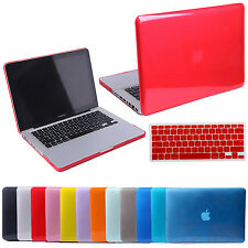 "Glossy Crystal Hard Cover Case Shell MacBook Air Pro Retina 13"" + Keyboard Skin"