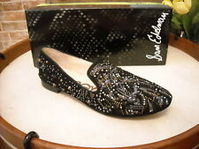 Sam Edelman Avalon Black Suede Studded Smoking Loafers New
