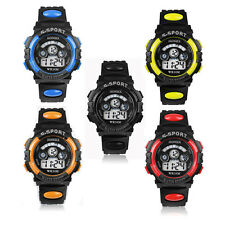 Favored Waterproof Children Boy Digital LED Quartz Alarm Date Sports Wrist Watch