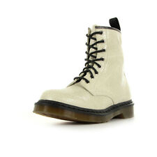 Bottines Doc Martens Femme 1460 W taille Blanc Blanche Cuir Lacets