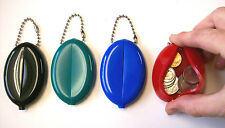 Rubber Squeeze Coin Change Money Purse Holder Purse USA Made Mens Christmas Gift