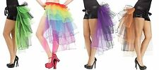 Adult Womens Sexy Bustle Ruffle Tutu Skirt 80's Halloween Costume Accessory