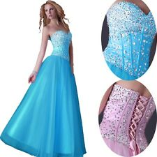 ❤Top Sale❤ Sequins Beaded Corset Evening/Formal/Ball gown/Party/Prom Dress Long