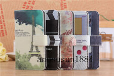 Eiffel Tower/Movie Video Tape/Game Wallet Flip PU Leather Case for Nokia Phones