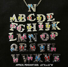 Artisan ALPHABET Personalized Letter **YOUR CHOICE** Silver Chain Necklace