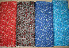 Special listing for lcroi - 24 yards total of Bandana fabric with shipping