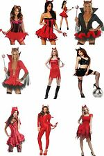 RED Gothic HALLOWEEN FANCY DRESS COSTUME PARTY OUTFIT SEXY DEVIL GIRL DRESS