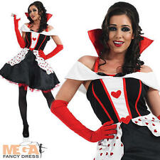 Queen of Hearts Longer Length Ladies Fancy Dress Womens Adult Fairytale Costume