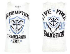 Raw State AFFLICTION Mens TANK TOP T-Shirt LIVE FREE Fight Biker Gym UFC L $35 f