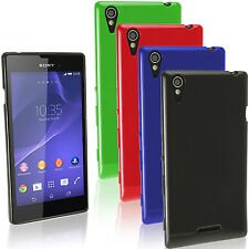 Etui Coque Gel TPU Housse pour Sony Xperia T3 D5102 5103 5106 Case Cover + Film