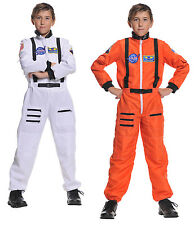 CHILD ASTRONAUT COSTUME JUMPSUIT KIDS NASA SHUTTLE PILOT SPACE SHIP CADET SUIT