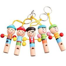Baby Kids Wooden Colorful Mini Whistle Pirates Toy Musical Toys Education Gift