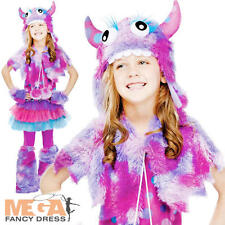 Polka Dot Monster Girls Halloween Fancy Dress Film Kids Child Costume Outfit New