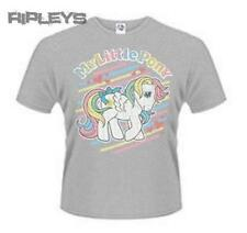 Official T Shirt MY LITTLE PONY Grey RAINBOW Stripes Vintage All Sizes