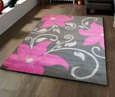 Grey and Pink and Black Choice Of 2 Colours and Sizes Budget Rug