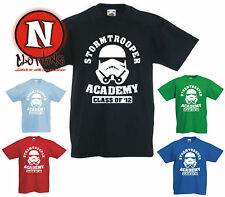 STORMTROOPER ACADEMY funny cool Star Wars Childrens Kids t-shirt 1-13 years
