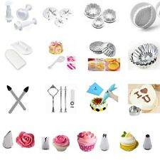 0.99 Sales! Fondant Cake Decorating Sugarcraft Icing Plunger Cutters Mould Tools