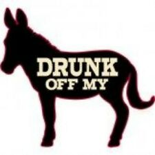 NEW FUNNY DRINKING DONKEY BEER ALCOHOL RUDE T-SHIRT - Drunk Off My A**