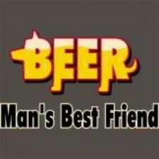 NEW FUNNY DRINKING T-SHIRT - Beer Man's Best Friend