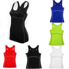 Women Sleeveless Body Armour Compression Vest Baselayer Thermal Under Tops PRO