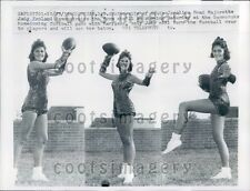 1959 Beautiful University of SC Majorette J Penland Football Poses Press Photo
