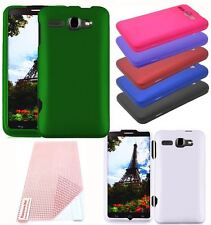 For Alcatel One Touch SONIC A851L Cover Hard Rubberized Case + Screen Protector