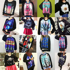 New Women's Men's 3D Space Galaxy Animal Hoodie T Shirt Coat Sweater Sweatshirt