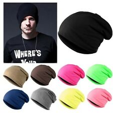 Unisex Women Men Slouch Winter Knit Hip-hop Cap Beanie Hat Ski Crochet 7 Colors