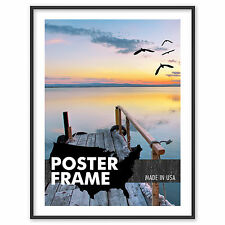 23 x 32 Custom Poster Picture Frame - Select Frame Profile, Color, Lens, Backing