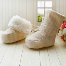 Toddler Kids Baby Soft Sole Winter Warm Booties Boots Crib Socks Shoes ACP