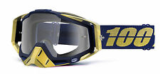 NEW 100% RACECRAFT MX DIRT BIKE OFFROAD ADULT GOGGLES RENAISSANCE / CLEAR