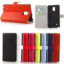 Flip Support Wallet Leather Case For Samsung Galaxy Note 4 SM-N910 (7 Colors) b