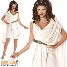 Deluxe Classic Toga Ladies Roman Grecian Fancy Dress Olympics Costume Outfit