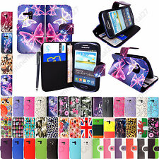 PU Leather Book Flip Case Cover For Samsung Galaxy S3 Mini i8190+ Guard & Stylus