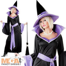 Incantasia Deluxe Glamour Witch Ladies Fancy Dress Halloween Women Adult Costume