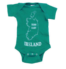 Irish Baby Ireland Map Cute St. Patrick's Day Infant Creeper Romper Snapsuit