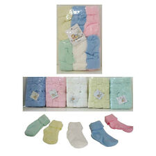 NEW Infant Baby 0-9 Mo Turn Cuff Solid Crew Socks 12 PAIR - BOYS GIRLS WHOLESALE