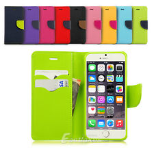 """iPhone 6S, 6 (4.7"""") & 6 Plus Case for Apple - Leather Flip Wallet Gel Cover"""
