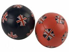 FULL SIZE 5 UNION JACK UK ENGLAND PVC CHILDRENS FOOTBALL WITH ADAPTOR RED/BLUE