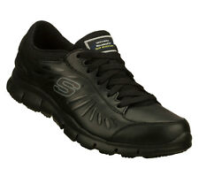 Skechers ELDRED SLIP RESISTANT Women's Work Shoes BLACK 76551BLK