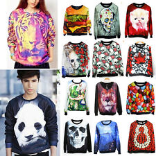 Men Women 3D Digital Printed Sweater Sweatshirt Hoodie Tracksuit Blouse Tops Tee