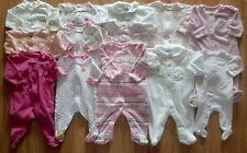 Lots Of Girl's Sz 3-6 M Months One Piece Footed Pajama Sleeper Outfit Floral  +