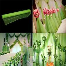 New Crystal Voile Organza Fabric Roll Sheer Wedding Party Background Decoration