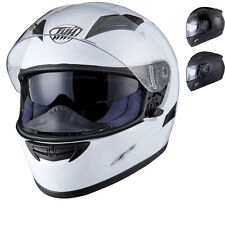 THH TS-80 PLAIN FULL FACE MOTORCYCLE MOTORBIKE INNER SUN VISOR CRASH HELMET