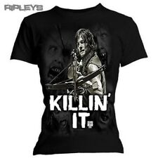 Official Skinny T Shirt THE WALKING DEAD Daryl KILLIN IT Zombies All Sizes