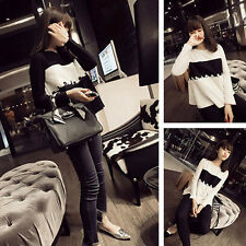 New Korean Women Lace Long Sleeve Shirt Tops Blouse Fashion Pullover T Shirt Tee